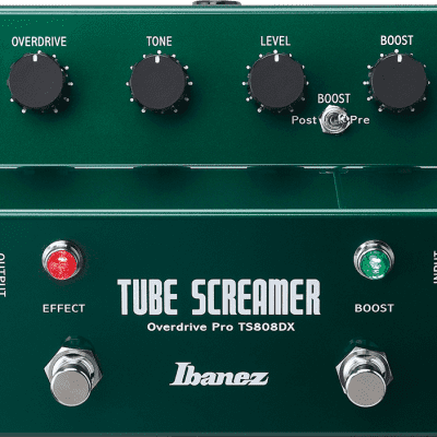 Ibanez TS808DX Tube Screamer Overdrive Pro Deluxe Guitar Effects Pedal TS-808DX