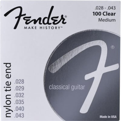 Fender Classic/Nylon, 100 Clear/Silver, Tie End, 028-043 for sale