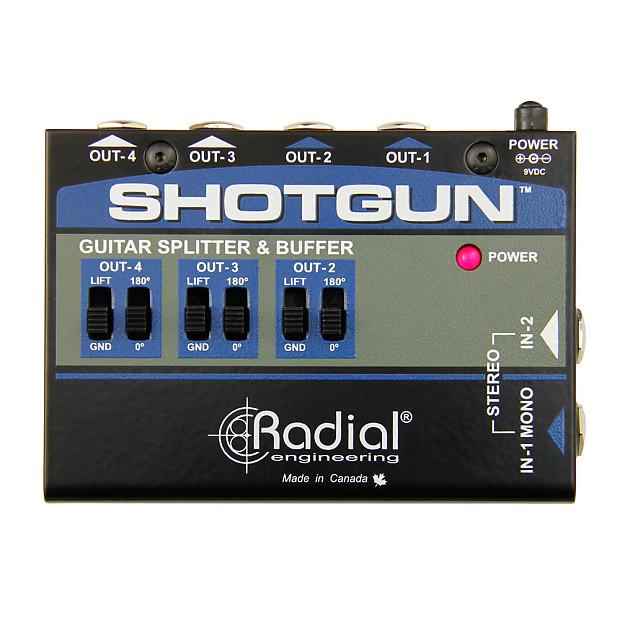 radial engineering shotgun 4 channel guitar amp driver reverb. Black Bedroom Furniture Sets. Home Design Ideas
