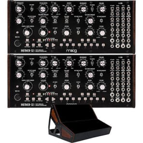 2 Moog Mother 32 Semi-modular Step Sequencer Analog Synthesizers + 2-Tier Rack