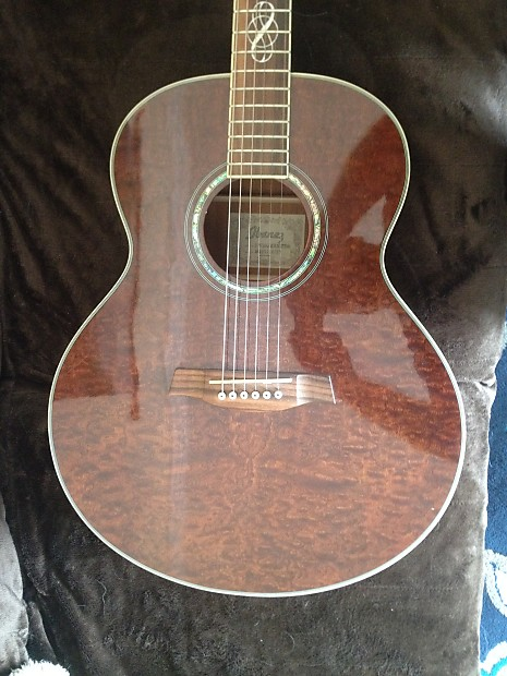 Ibanez Exotic Wood Acoustic Guitar EW20QMHNT1201 2005 Amber Stained Quilt Maple