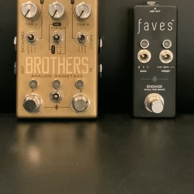 Chase Bliss Audio Brothers Analog Gain Stage and Faves