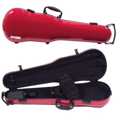 Gewa Gewa Air 1.7 Shaped Red Violin Case with Black Interior