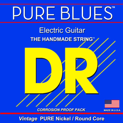 DR Pure Blues Electric Vintage Pure Nickel/Round Core 10-52 PHR-10/52  10 13 17 30 44 52