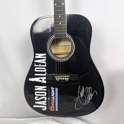 JASON ALDEAN Autographed Huntington Coors Light Acoustic Guitar - 1994 Burnin It Down Tour for sale