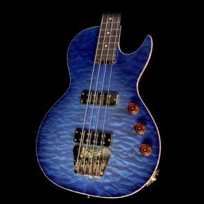 B&G Guitars Big Sister Private Build Electric Bass Guitar Atlantis Blue for sale