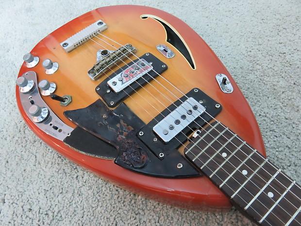 frankenstein vintage 1967 vox starstream guitar sunburst reverb. Black Bedroom Furniture Sets. Home Design Ideas