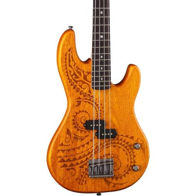 Luna Guitars Tattoo Short Scale Electric Bass Regular for sale