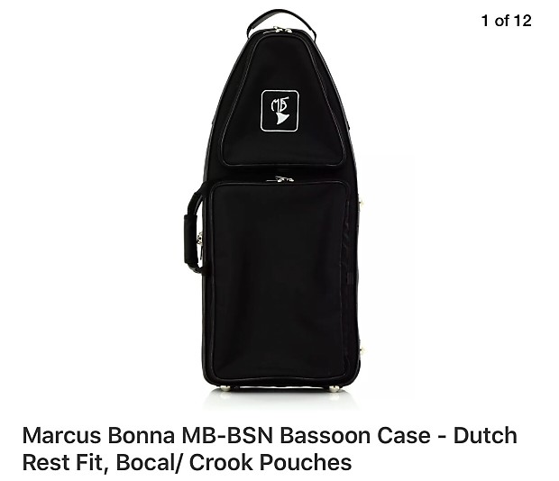 Marcus Bonna MB-BSN Bassoon Case - Dutch Rest Fit With Bocal/ Crook Pouches