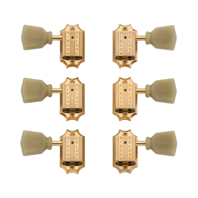 Gibson Vintage Gold Machine Heads W/ Pearloid Buttons for sale