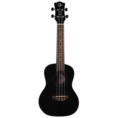 Luna Guitars UKE VMC BKS Vintage Mahogany Concert Ukulele Black Satin