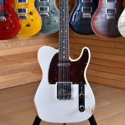 Fender Custom Shop '63 Limited Edition NAMM 2017 Relic Telecaster Rosewood Fingerboard Olympic White for sale