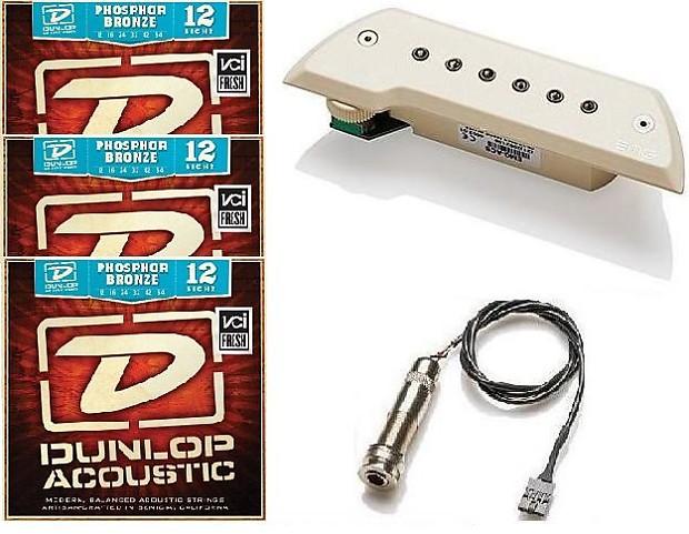 EMG ACS Ivory Acoustic Guitar Soundhole Pickup Bajo Sexto Quinto EMG TUNER