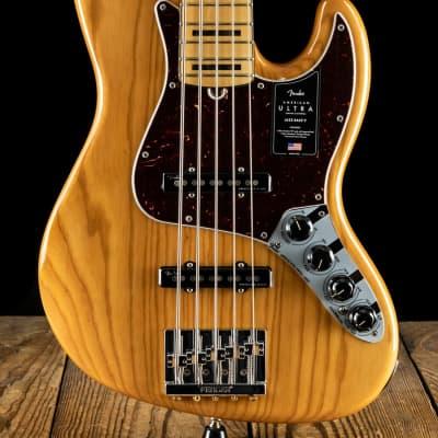 Fender American Ultra Jazz Bass V - Aged Natural - Free Shipping