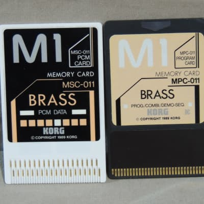 Korg M1 Brass sound cards MSC-011 and MPC-011 for M-1 & M1R