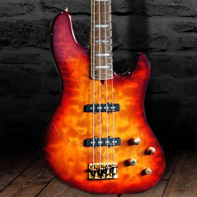 Fender American Deluxe Jazz Bass FMT with Maple Fretboard 2001 Honey Sunburst Quilt for sale