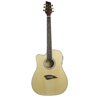K2LN Kona K2 Series Thin Acoustic/Electric Guitar Left-Handed (Natural) for sale