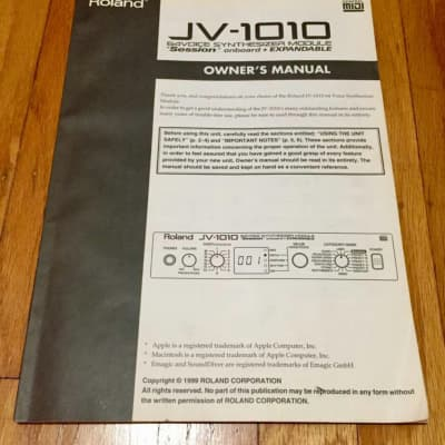 Roland  JV-1010 Owners Manual