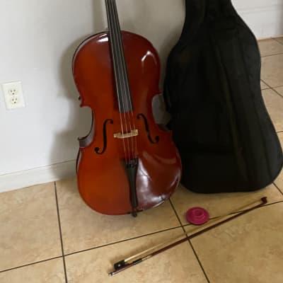 Palatino VC-450 Allegro Solid Ebony 4/4 Full-Size Cello w/ Gigbag, Bow