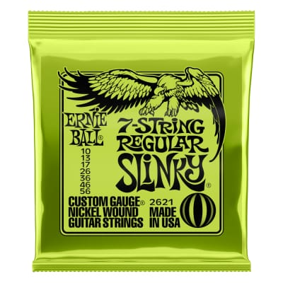 Ernie Ball Regular Slinky 7-String Nickel Wound Electric Guitar Strings 10-56 (P02621)