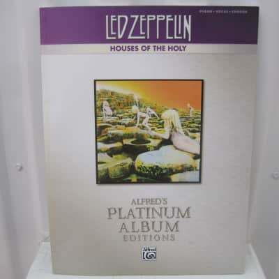 Led Zeppelin Houses of the Holy Alfred's Platinum Album Editions  Piano Vocal Chords Song Book