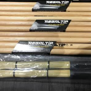 Regal Tip 2B American Hickory Nylon Tip Drum Sticks