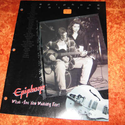 Epiphone Guitar Brochure Catalog 26 Page from 1997 W/ Prices
