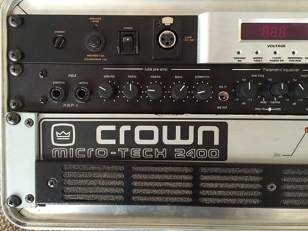 crown micro tech 2400 power amp reverb. Black Bedroom Furniture Sets. Home Design Ideas
