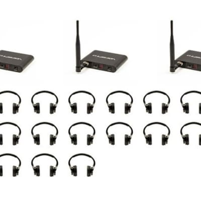 VocoPro SilentDisco-325 Silent Disco package with 3 Transmitters and 25 Wireless LED Headphones