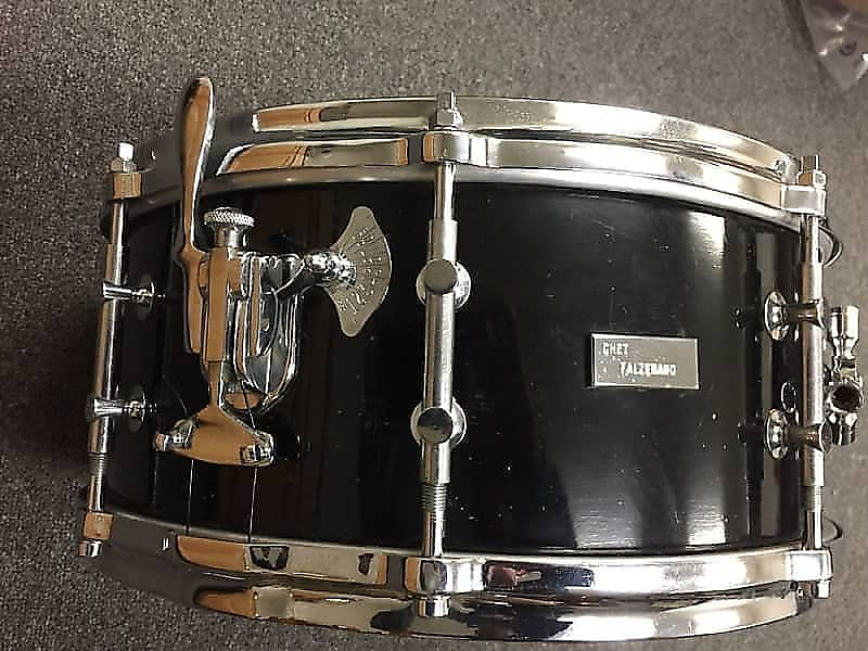 "Original Billy Gladstone 6x14"" Snare Drum in Black Lacquer w/ Chrome Hardware  WOW!"