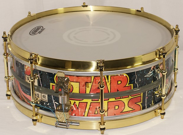 star wars comic book wrapped ludwig acrolite snare reverb. Black Bedroom Furniture Sets. Home Design Ideas