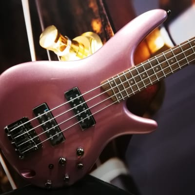 Ibanez SR300E-PGM SR-Serie E-Bass 4 String Pink Gold Metallic for sale