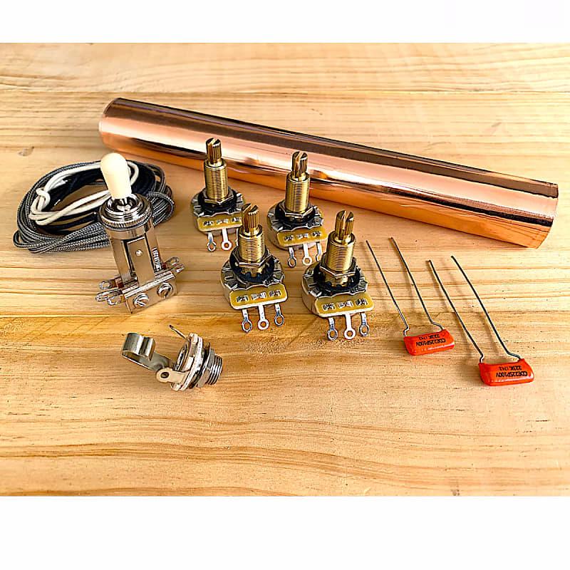 premium wiring kit for les paul guitar wk7 reverb. Black Bedroom Furniture Sets. Home Design Ideas
