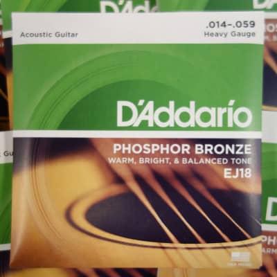 D'Addario EJ-18 Heavy 14-59 Phophor Bronze ( 10 sets )