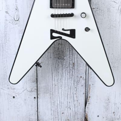 Sozo Z Series Flying V Electric Guitar Snow White w PRS Pickups & Coffin Gig Bag for sale