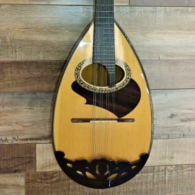Pristine rare model Kiso-Suzuki model 100 1970s Natural Bowl Back Mandolin with case for sale