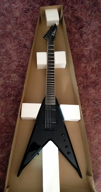 bc rich jr v lucky 7 7 string electric guitar jrv7bk reverb. Black Bedroom Furniture Sets. Home Design Ideas