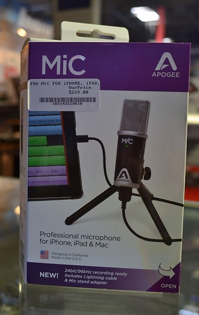 apogee mic usb microphone for garageband on iphone ipad mac reverb. Black Bedroom Furniture Sets. Home Design Ideas