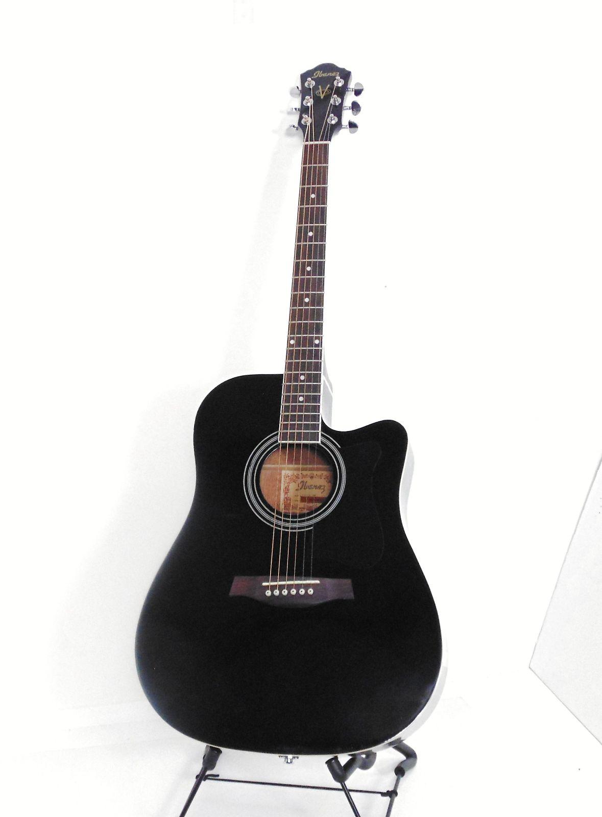ibanez v70ce bk acoustic electric guitar black reverb. Black Bedroom Furniture Sets. Home Design Ideas