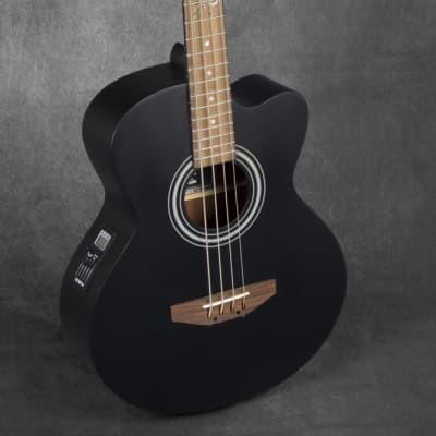 Lindo ACB Series Electro Acoustic Bass Guitar - Matte Black for sale