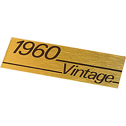 Marshall Guitar amp 1960 vintage plate name / logo badge