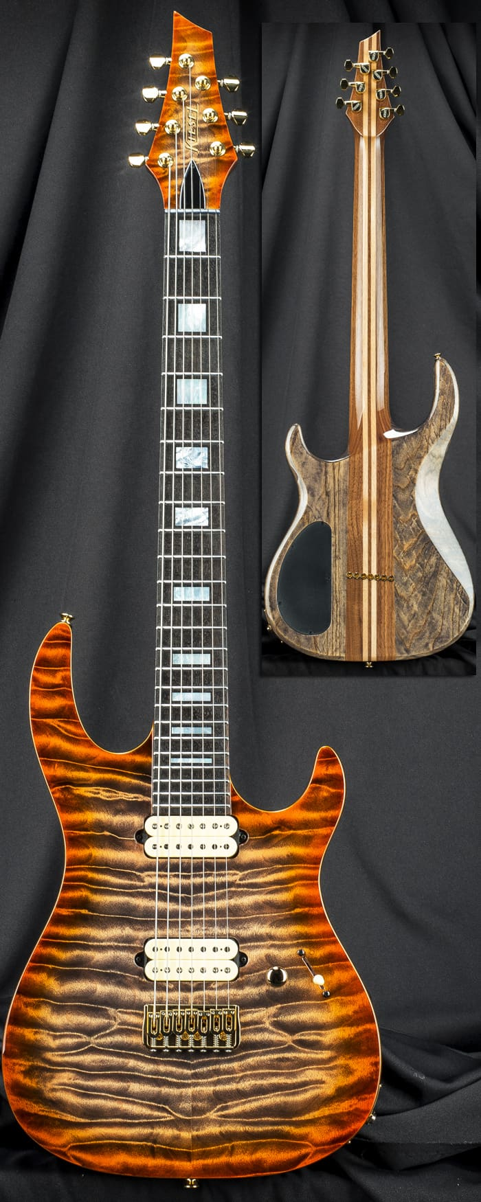 kiesel dc7x 7 string extended scale electric guitar reverb. Black Bedroom Furniture Sets. Home Design Ideas