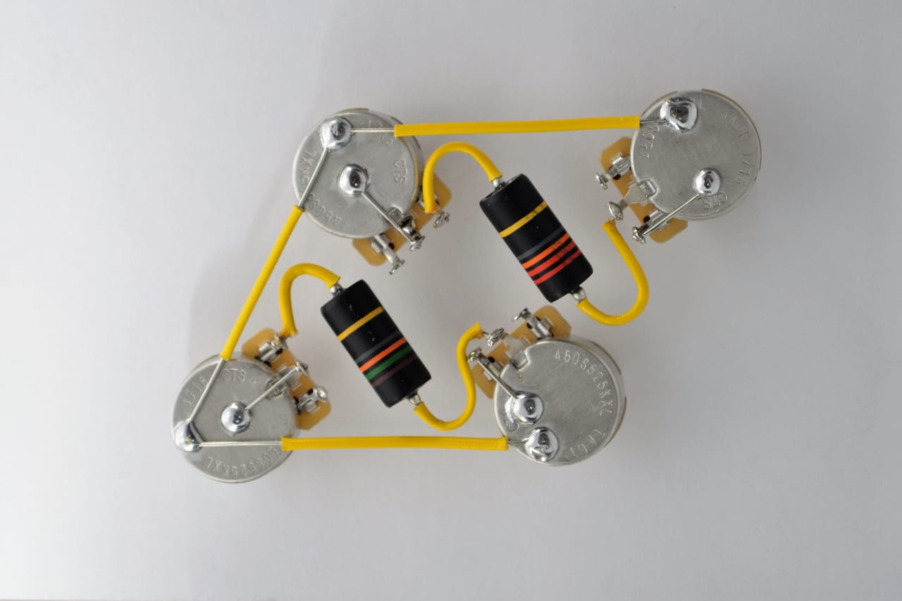 Emerson Les Paul Wiring Harness : Les paul type wiring harness by jel cts k long shaft