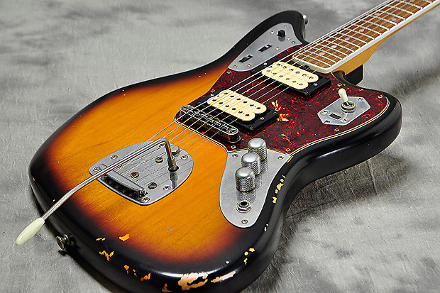 fender mexico kurt cobain jaguar relic sunburst reverb. Black Bedroom Furniture Sets. Home Design Ideas