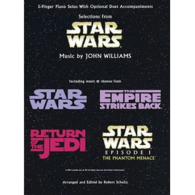 Selections From Star Wars: 5-Finger Piano Solos With Optional Duet Accompaniment
