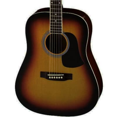 Aria Fiesta Series Dreadnought Acoustic Guitar in Brown Sunburst for sale