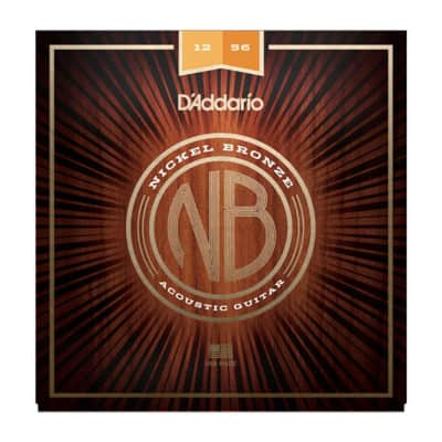 D'Addario NB1256 Nickel Bronze Lt Top Med Bottom