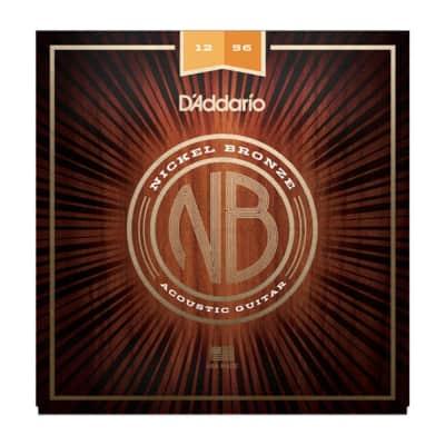 D'Addario NB1256 Nickel Bronze Lt Top Med Bottom
