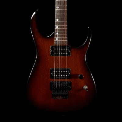 Feline Guitars RG Style Superstrat in Mahogany Burst, Pre-Owned for sale