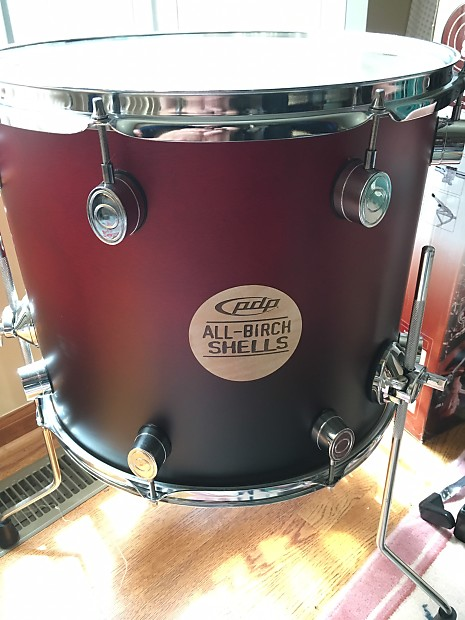 Pacific drums made by dw 16 x 14 birch floor tom mint for 16 x 14 floor tom